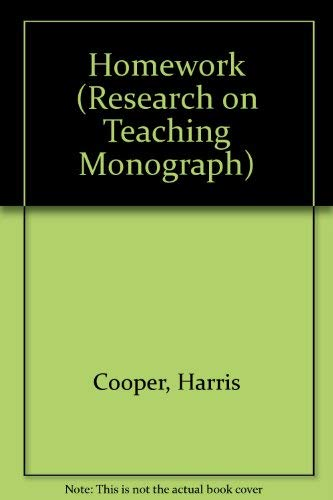 Homework (Research on Teaching Monograph): Cooper, Harris