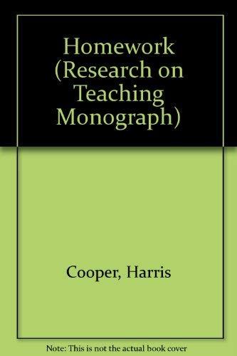 9780801302084: Homework (Research on Teaching Monograph)