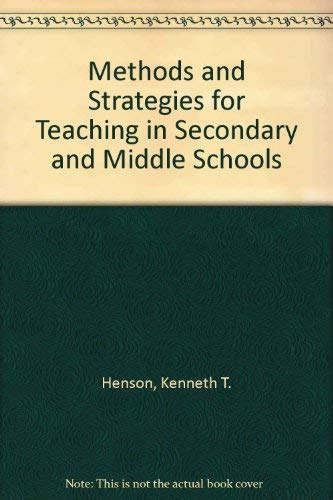 9780801307614: Methods and Strategies for Teaching in Secondary and Middle Schools