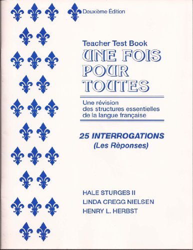 9780801308963: Une Fois Pour Toutes (English and French Edition)
