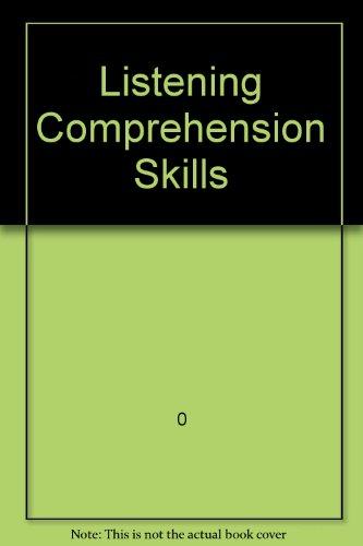 9780801310867: Listening Comprehension Skills