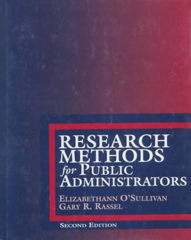 9780801311727: Research Methods for Public Administrators (2nd Edition)