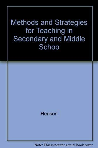 9780801316258: Methods and Strategies for Teaching in Secondary and Middle Schools