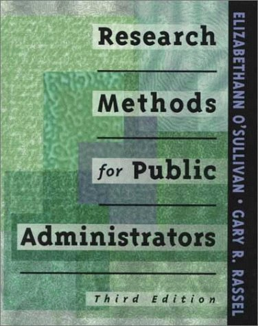 9780801318504: Research Methods for Public Administrators (3rd Edition)