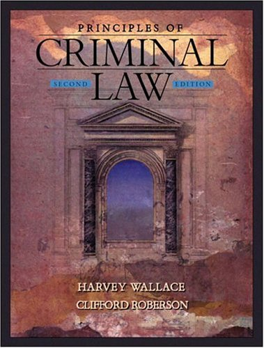 9780801319198: Principles of Criminal Law (2nd Edition)