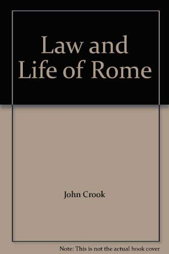 9780801400964: Law and Life of Rome