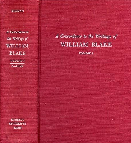 A Concordance to the Writings of William Blake (2 Volumes): n/a
