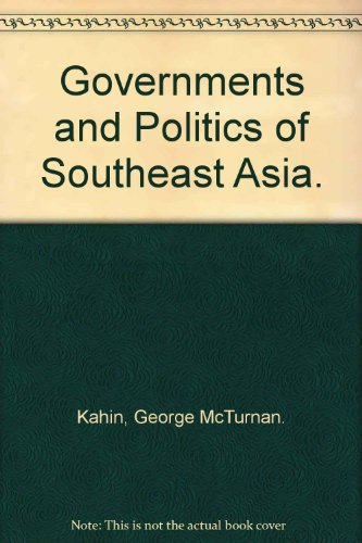 9780801402166: Governments and Politics of Southeast Asia.