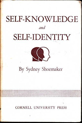 Self-knowledge and Self-identity Self-knowledge and Self-identity, Sydney Shoemaker, Used, 9780801403835 A+ Customer service! Satisfaction Guaranteed! Book is in Used-Good condition. Pages and cover are clean and intact. Used items may not include supplementary materials such as CDs or access codes. May show signs of minor shelf wear and contain limited notes and highlighting.