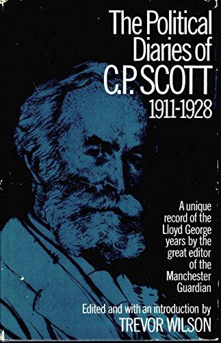 9780801405693: The Political Diaries of C P Scott, 1911-1928