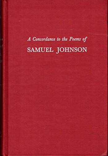 9780801407697: A Concordance to the Poems of Samuel Johnson (The Cornell Concordances)