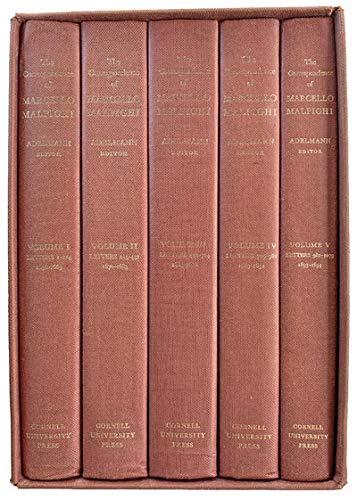 THE CORRESPONDENCE OF MARCELLO MALPIGHI [COMPLETE IN 5 VOLUMES]: Malpighi, Marcello; Adelmann, ...