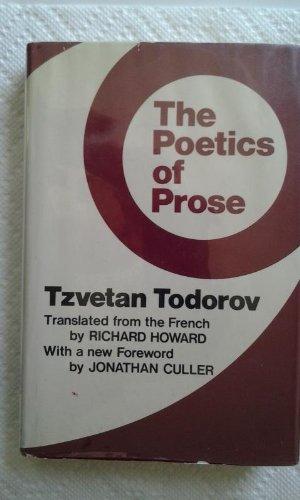 9780801408571: Poetics of Prose CB
