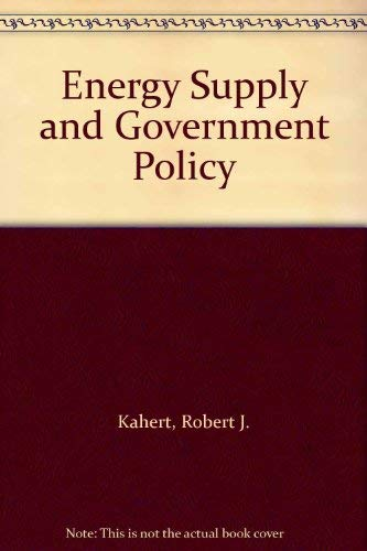 9780801409660: Energy Supply and Government Policy