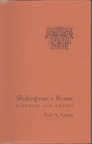 9780801409677: Shakespeare's Rome: Republic and Empire