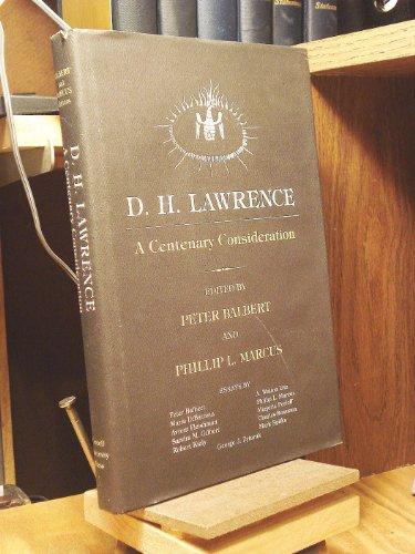 D.H. Lawrence. A Centenary Consideration.: BALBERT, P. & P.L. MARCUS (ed.)