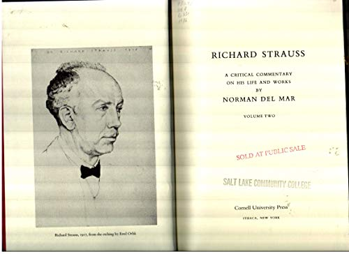 9780801417818: Richard Strauss: a Critical Commentary on His Life and Works: 002