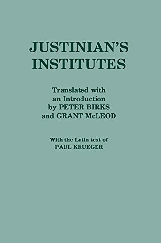 9780801419997: Justinian's Institutes (English and Latin Edition)