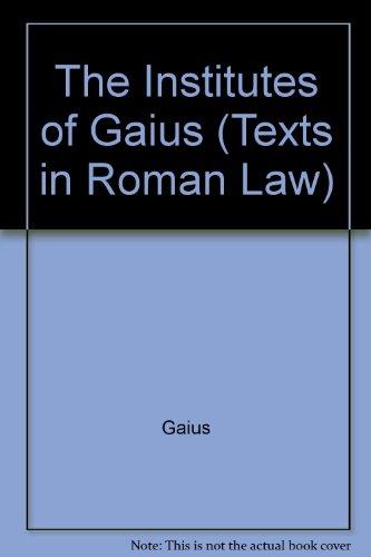9780801421600: The Institutes of Gaius