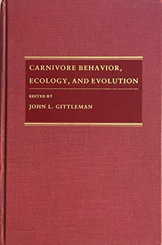9780801421907: Carnivore Behavior, Ecology, and Evolution: Vol 1 (Comstock books)