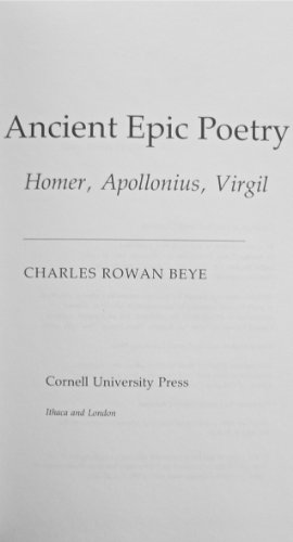 9780801426735: Ancient Epic Poetry: Homer, Apollonius, Virgil