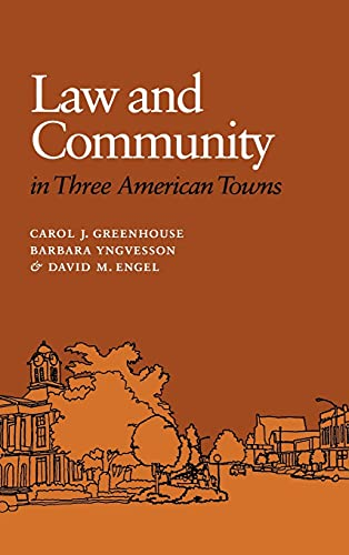 9780801429590: Law and Community in Three American Towns