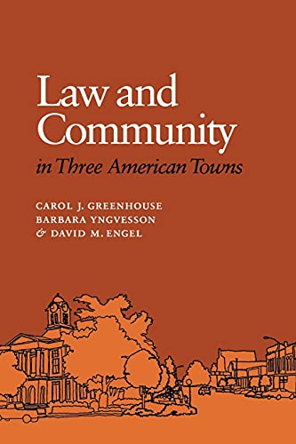 9780801481697: Law and Community in Three American Towns