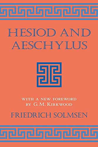 9780801482748: 30: Hesiod and Aeschylus (Cornell Studies in Classical Philology)