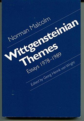 Wittgensteinian Themes: Essays, 1978-1989: Malcolm, Norman