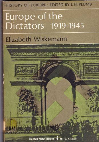 9780801492105: Europe of the Dictators, 1919-1945
