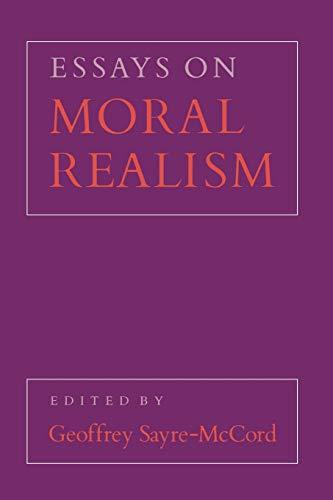 9780801495410: Essays on Moral Realism (Cornell Paperbacks)