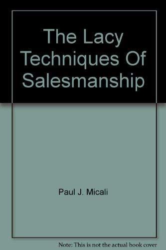 9780801543685: Lacey Technique for Salesmanship