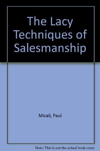 9780801590016: Lacey Technique for Salesmanship