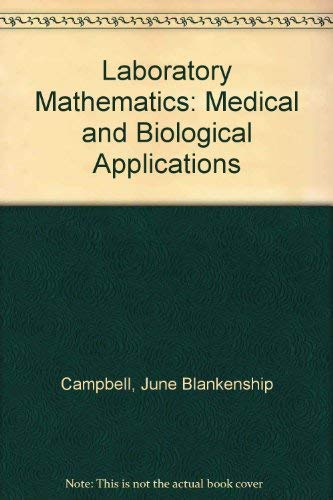 9780801607004: Laboratory Mathematics: Medical and Biological Applications