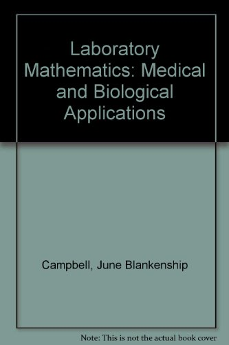 9780801607028: Laboratory Mathematics: Medical and Biological Applications