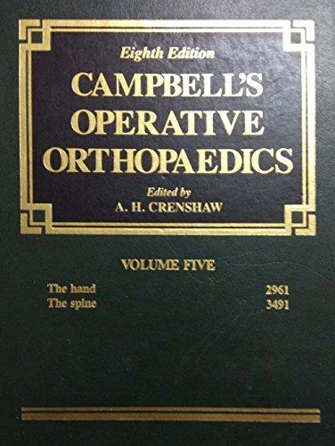 9780801610967: Campbell's Operative Orthopaedics