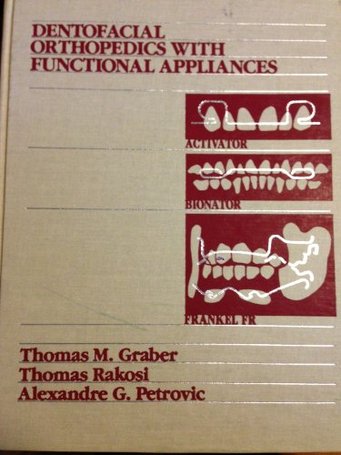 Dentofacial Orthopedics with Functional Appliances 9780801619373 This exciting new edition describes the essential details of diagnosis for functional appliances, gives detailed instructions on how to obtain a correct construction bite, describes fabrication and use of various types of functional appliances and discusses the specific treatment of different malocclusion categories. New chapters discuss the expansion-activator and twin block appliance, the functional magnetic system, the Hamilton, the modern Herbst appliance and the Jasper Jumper. Spanish version also available, ISBN: 84-8174-331-3