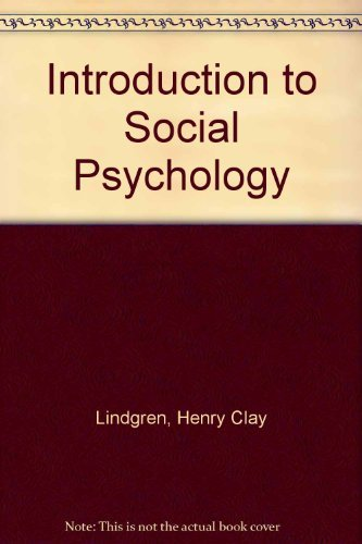 9780801630385: Introduction to Social Psychology
