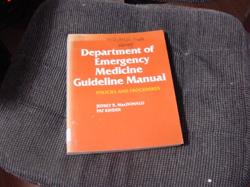 9780801630545: Department of Emergency Medicine Guideline Manual: Policies and Procedures