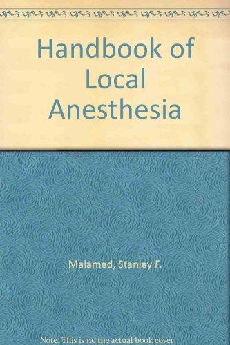 9780801630767: Handbook of Local Anesthesia