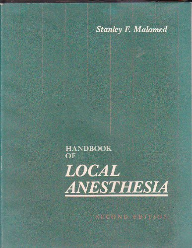 9780801630880: Handbook of Local Anesthesia