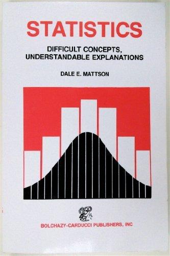 9780801631733: Statistics: Difficult Concepts, Understandable Explanations