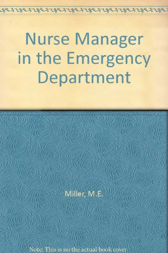 9780801635120: Nurse Manager in the Emergency Department