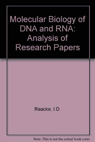 9780801640681: Molecular biology of DNA and RNA;: An analysis of research papers