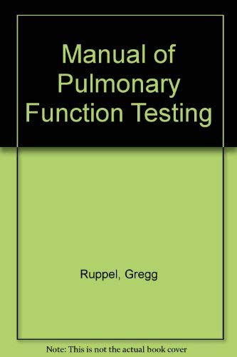 9780801642159: Manual of Pulmonary Function Testing