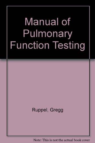 9780801677892: Manual of Pulmonary Function Testing