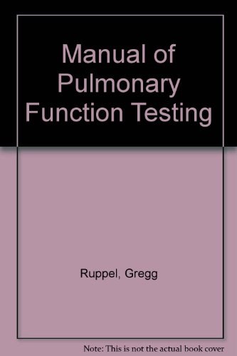 9780801677892: Manual of Pulmonary Function Testing