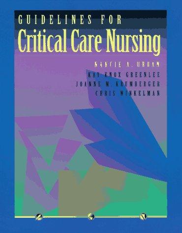 9780801678400: Guidelines for Critical Care Nursing, 1e