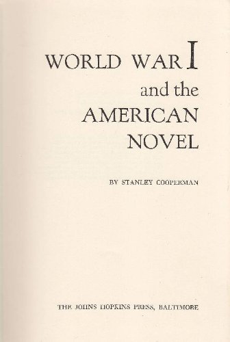 9780801801389: World War One and the American Novel