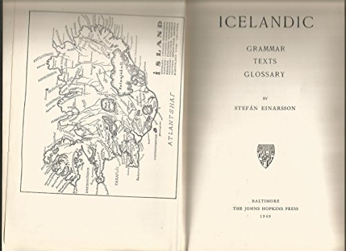 9780801801877: Icelandic Grammar, Text and Glossary